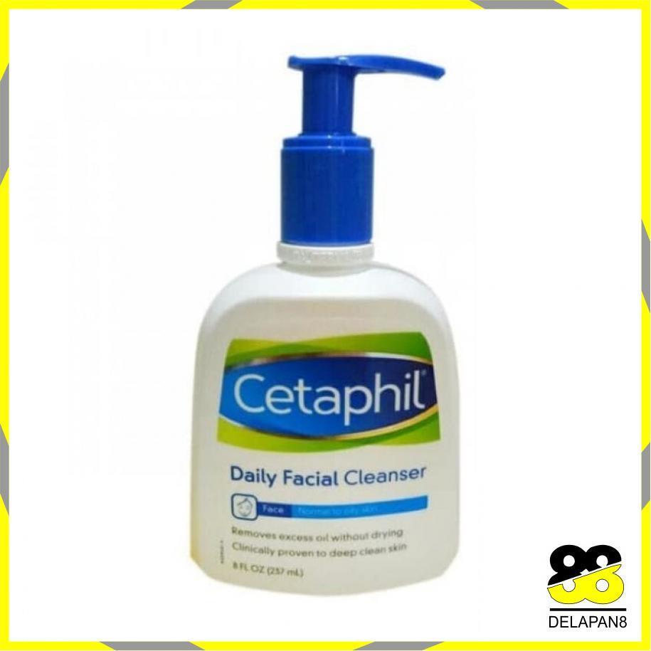 Paling Laris Cetaphil Daily Facial Cleanser (237ml) Original 100% / Produk Kecantikan Perawatan Wajah Cleanser / Perawatan Kulit / Pembersih Wajah Perawatan Wajah - 8D88013