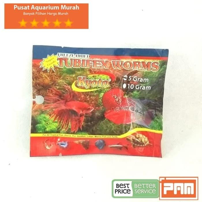 Cacing Sutra Kering Kyoto Tubifex Worms 5 Gram Cacing Beku Kering By Pusat Aquarium Murah.