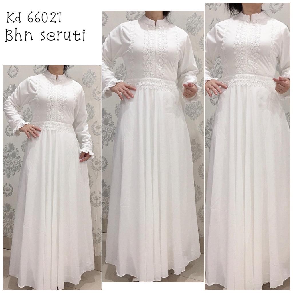 VENESIA 7354/ Busana Muslim Wanita/ Gamis Muslim Wanita/ Gamis Putih/ Gamis syari/ Gamis Muslim/ Gamis Syari Muslim