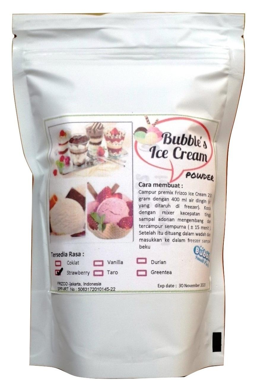 Strawberry Ice Cream Powder 250gr Bubuk Es Krim Frizco Strawbery Orimoto Mart Stroberi By Ori Moto Mart