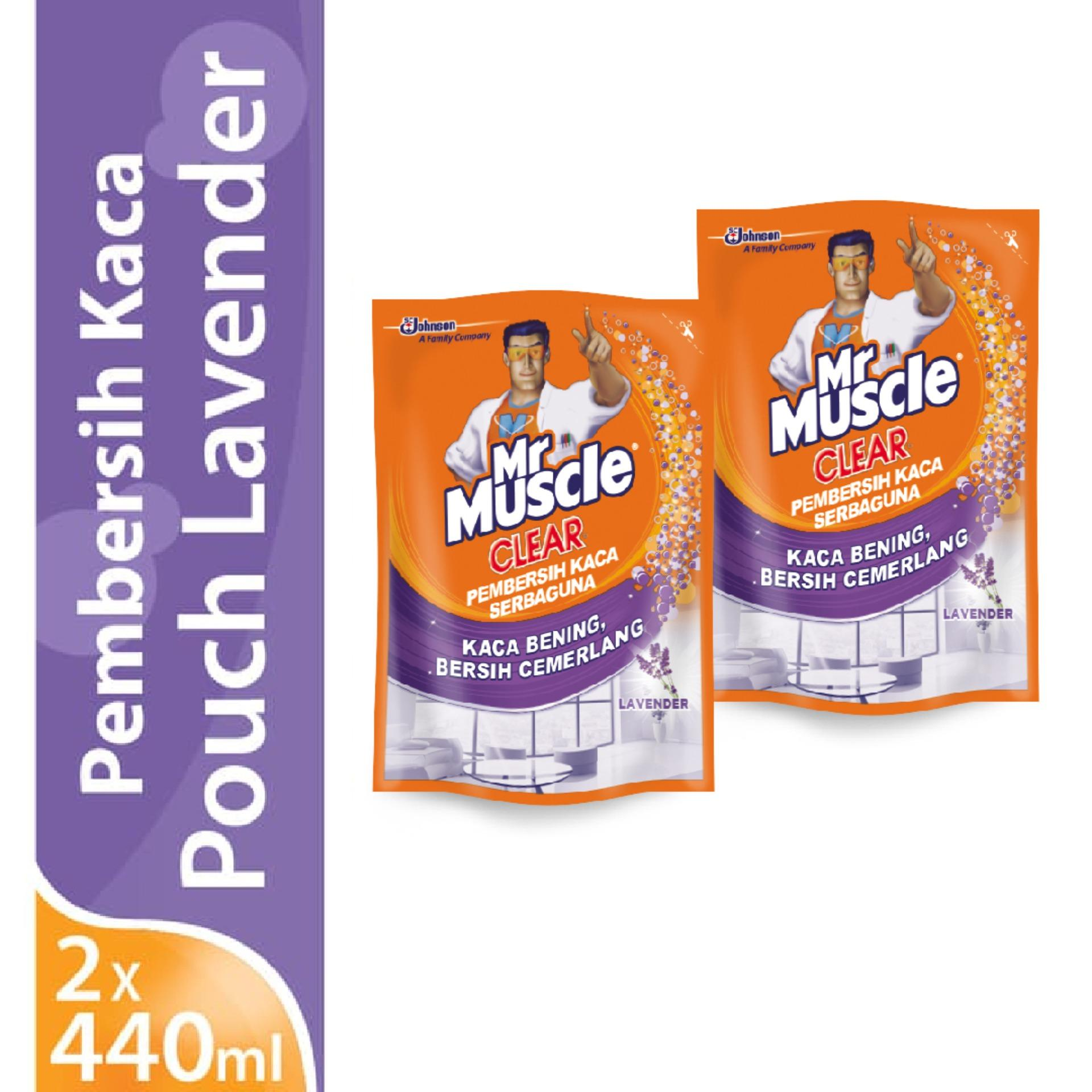 [twin Pack] Mr. Muscle Glass Liquid Lavender Pouch 440ml X 2pcs By Sc Johnson & Son Id.
