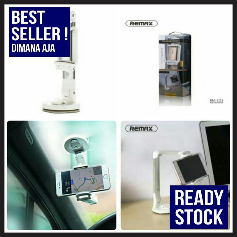 TERBAIK - REMAX CAR HOLDER DASHBOARD FOR SMARTPHONE - RM-C23 - PUTIH - PUTIH - TEKNOLOGI