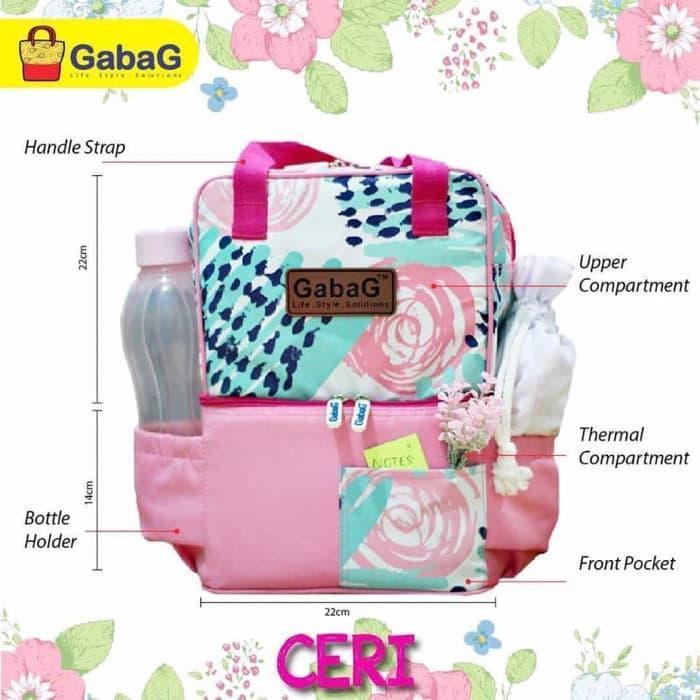 PROMO Gabag Cooler Bag POP Series Motif Ceri Tas Asi - Free 2 Ice Gel - UNYRmKZM