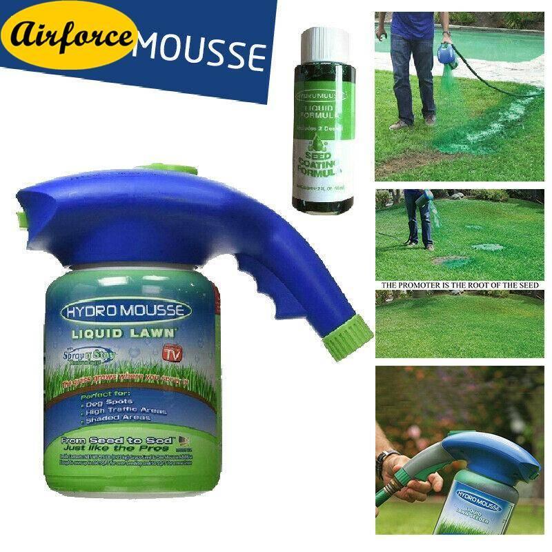 Airforce Hydro Mousse Household Seed Liquid Spray Lawn Fertilizer Grass + Sprayer Bottle