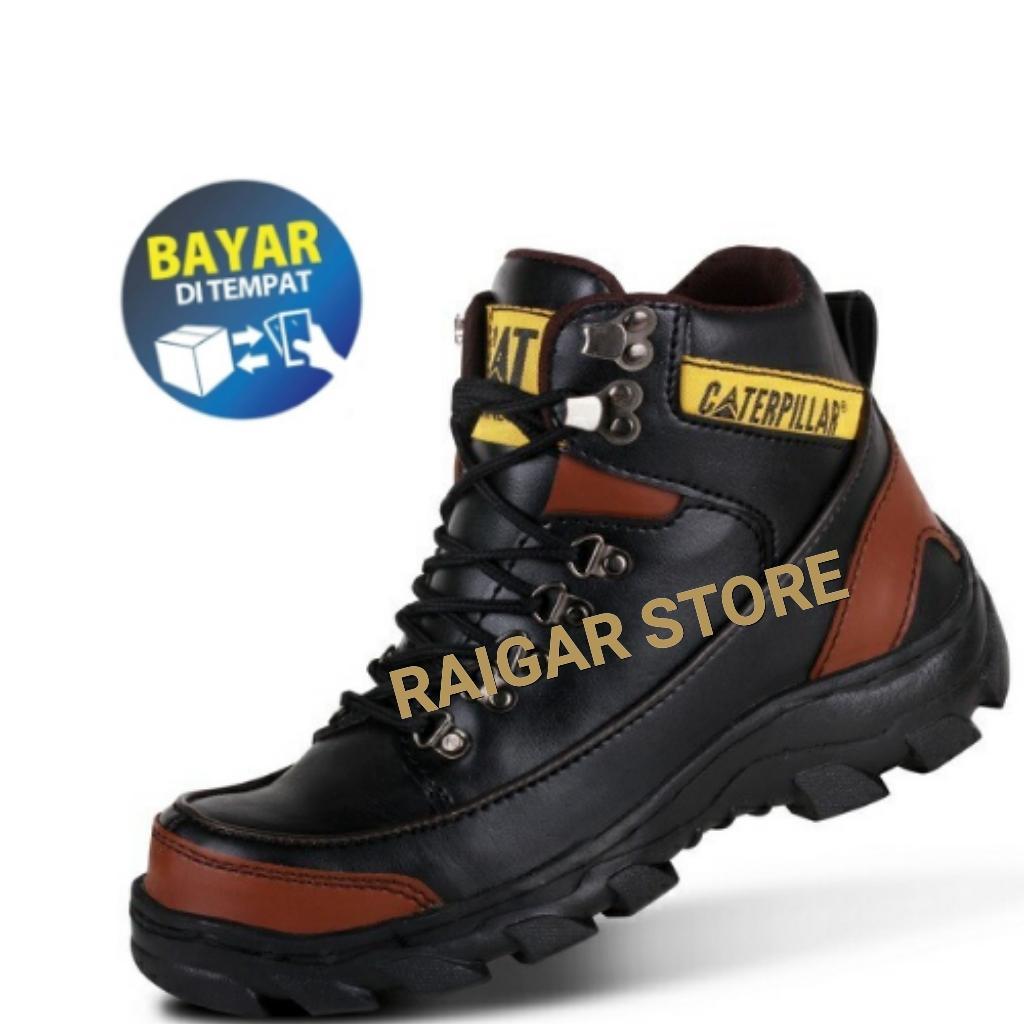 Sepatu Boots Safety terlaris Raigar Cat Argon Sepatu Safety - Sepatu Boots Pria