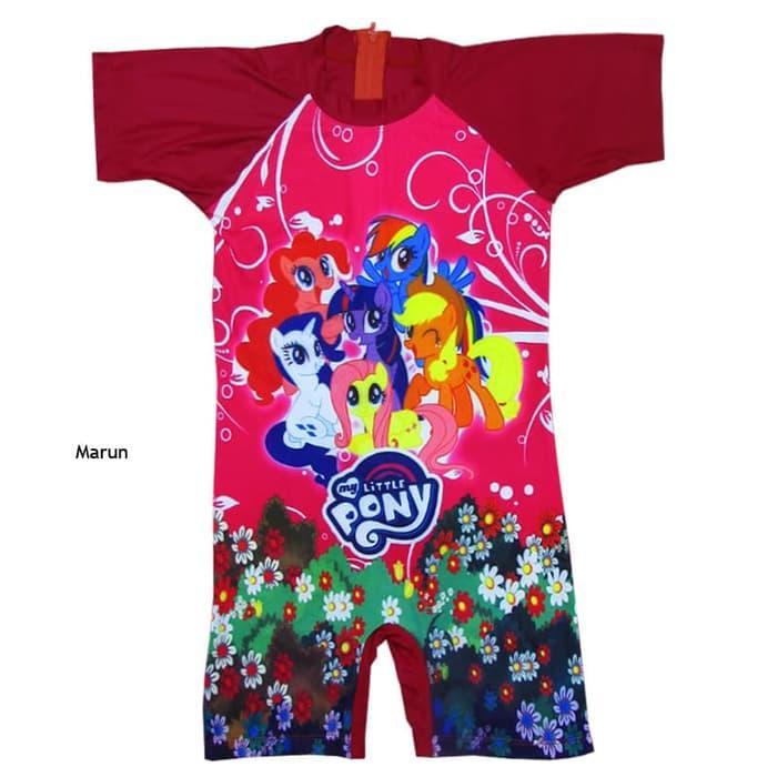 Baju Renang Karakter Anak Perempuan 3-6 Tahun Model Diving Pendek