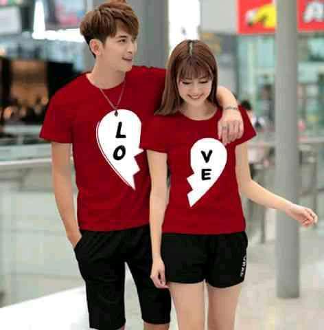 Couple Love Kaos Pasangan By Fos Olshop.