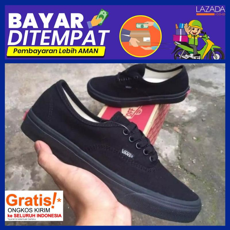SEPATU VANS12_AUTHENTIC CALIFORNIA FULL BLACK HITAM POLOS WHITE PUTIH POLOS OLDSCOLL ERA SK8 ORIGINAL SNEAKERS PRIA WANITA VBD-02 RHM