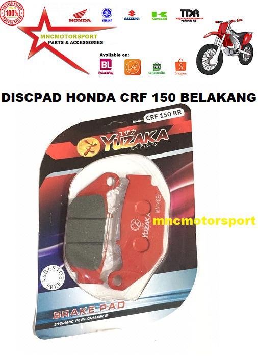 Discpad Dispad Disc Pad Kanvas Kain Kampas Rem Belakang Honda Crf 150 L Yuzaka By Mncmotorsport