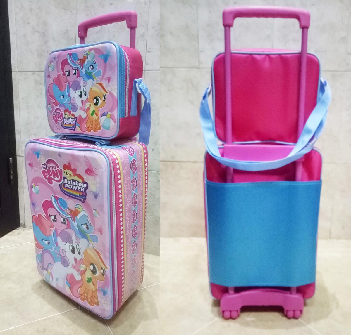 Onlan Set Koper Lunch Bag Karakter Anak Perempuan Bahan Kain Sponge Tahan Air New Arrival By Abadi Jaya.