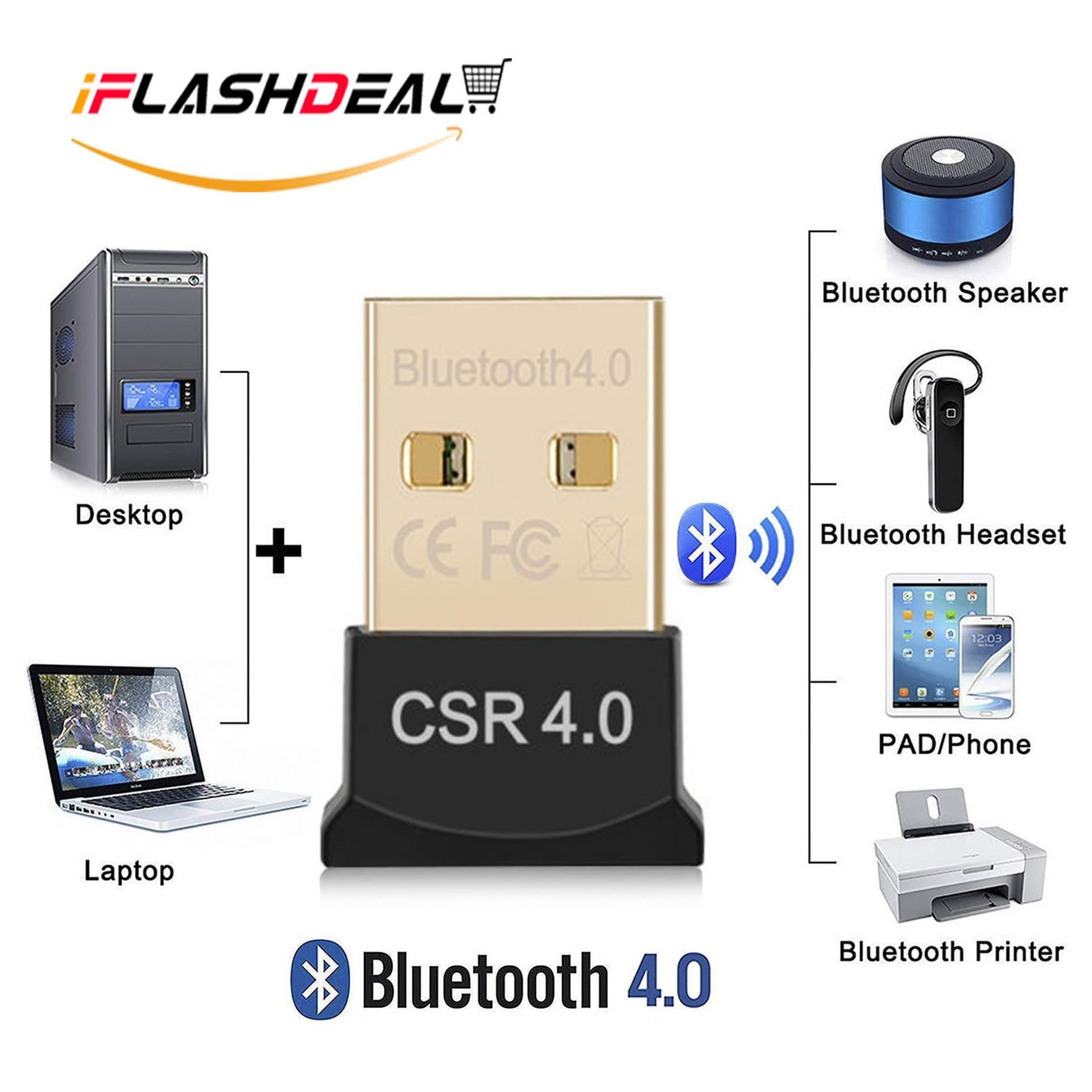 Wireless USB 2.0 CSR 4.0 Dongle Adapter for PC LAPTOP WIN XP VISTA 7 8 10