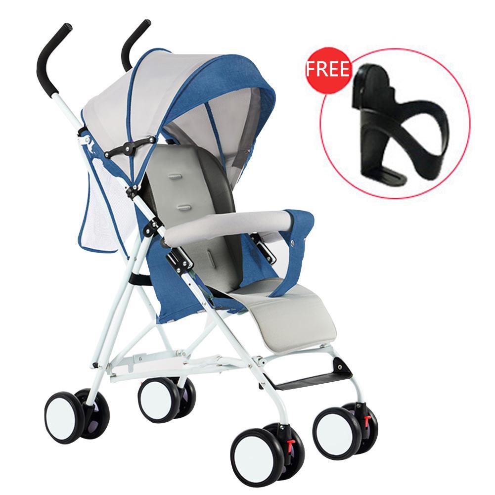 MG【Big Discount】น้ำหนักเบาพับ Shock-proof นั่งเด็กรถเข็นทารก 4 ล้อ