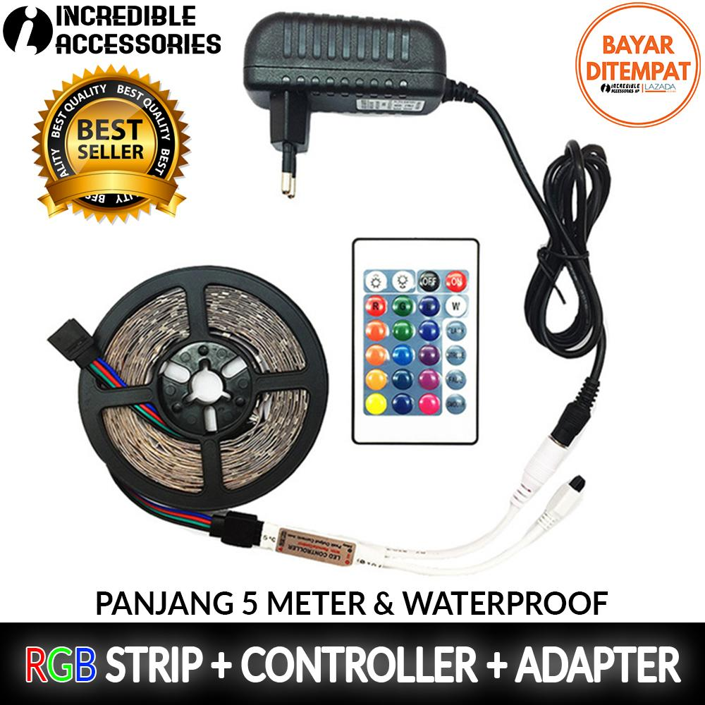 Led Strip 5 Meter Smd 3528 Rgb + Remote + Modul + Adaptor By Incredible Accessories Hp.