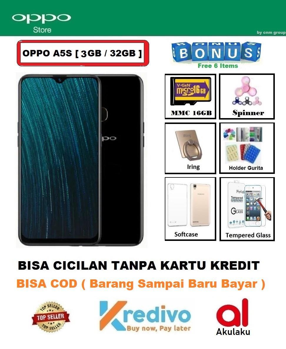 Oppo A5S Ram 3GB/32GB - Bisa Cicilan Tanpa Kartu Kredit + Paket 6 Acc ( Original, Garansi Resmi 1 Tahun, Bisa COD )