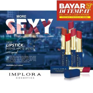 ORIGINAL Implora Intense Matte Lipstick Long Lasting Finish BPOM Implora Lipstick TERMURAH lipcream anti air tahan lama thumbnail