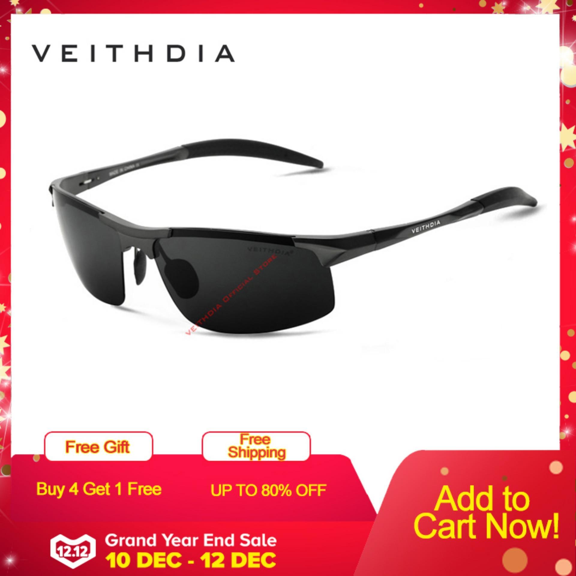 COD+Pengiriman Gratis VEITHDIA Kacamata Hitam Sport Berkendara Bahan  Alumunium Lensa Polarisasi Aksesoris untuk f4eea4ae97