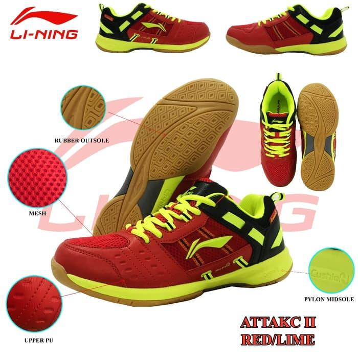 Sepatu Badminton Lining Attack Ii Sepatu Lining Attack Ii By Fan Collection.