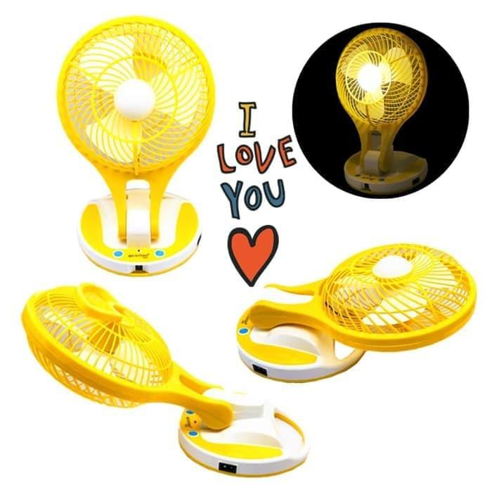 HOT SPESIAL!!! KIPAS ANGIN MINI FAN UNTUK MATI LAMPU WITH PORTABLE LED LIGHT