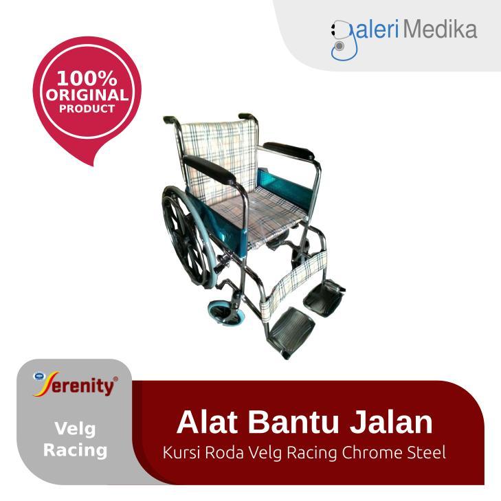 Serenity 809S - Kursi Roda Standar Velg Racing Chrome