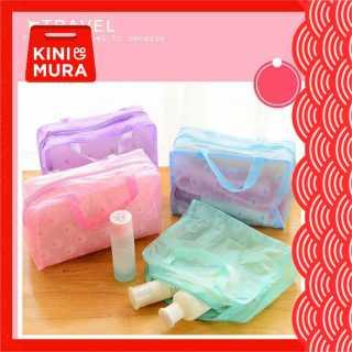 Kinimura - Tas Kosmetik Toiletries Bag Pouch Anti Air Tas Transparan thumbnail