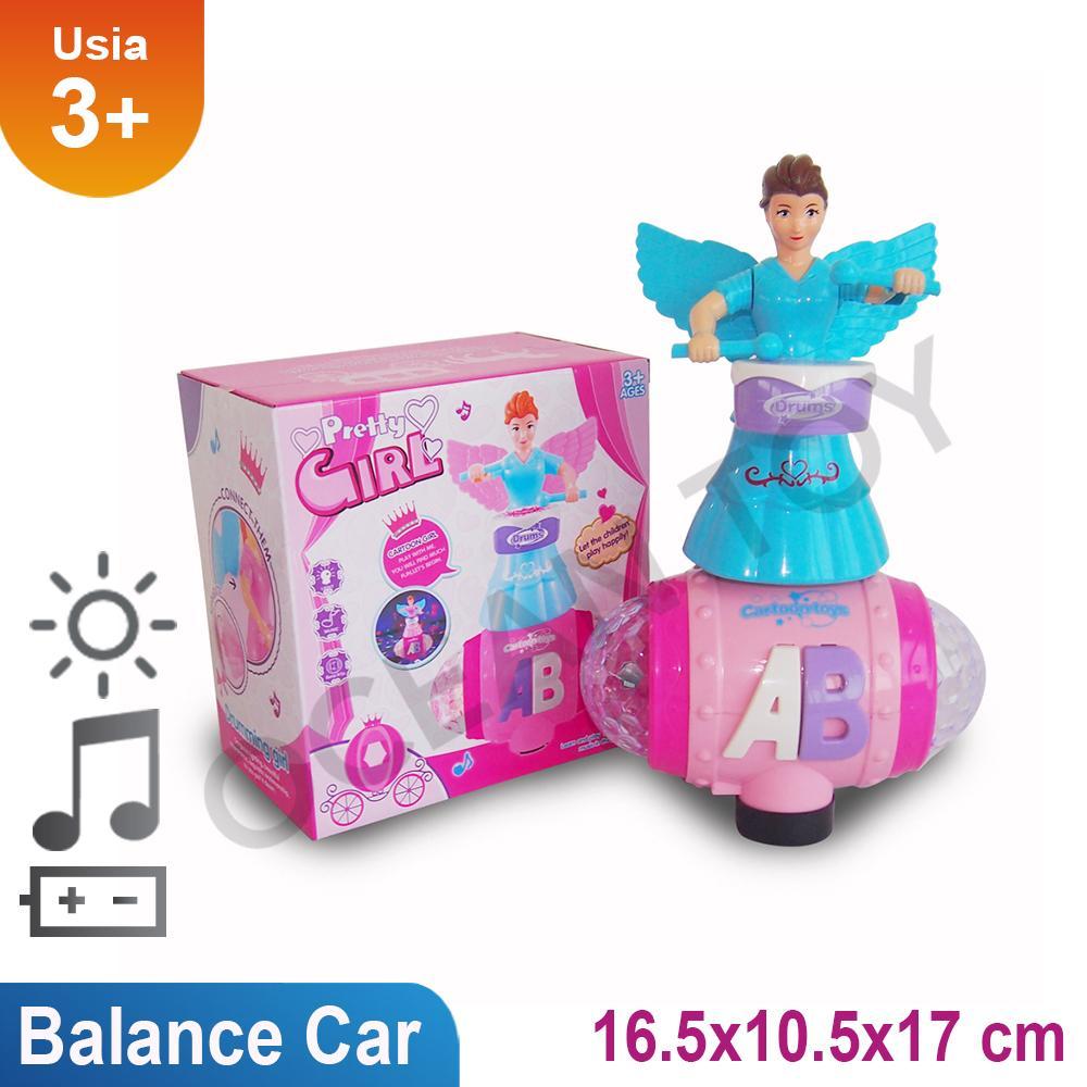 Mainan Anak Pretty Girl Balance Car / Mainan Anak Angel Girl / Promo Mainan Anak Balance Car Lights & Sound - 999-6 By Ocean Toy.