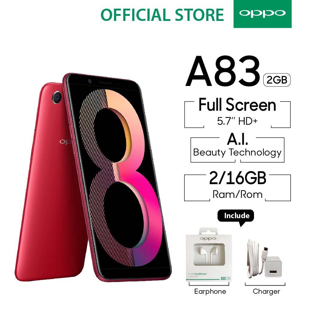 OPPO A83 SMARTPHONE 2GB/16GB ( A.I Beauty, Face Unlock (COD, Garansi