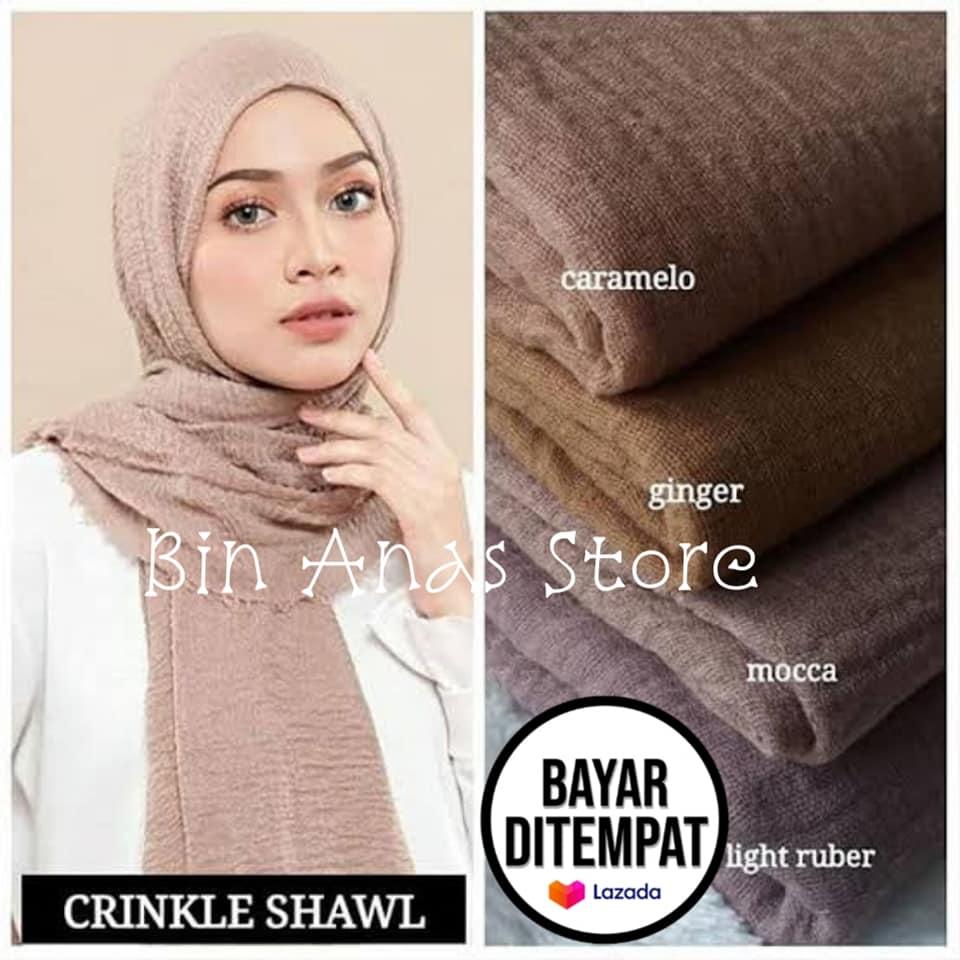 Hijab Pashmina Crinkle Warna Terlengkap Jilbab Pasmina Crinkle Warna Terlengkap Kerudung Terbaru 2020 Lazada Indonesia