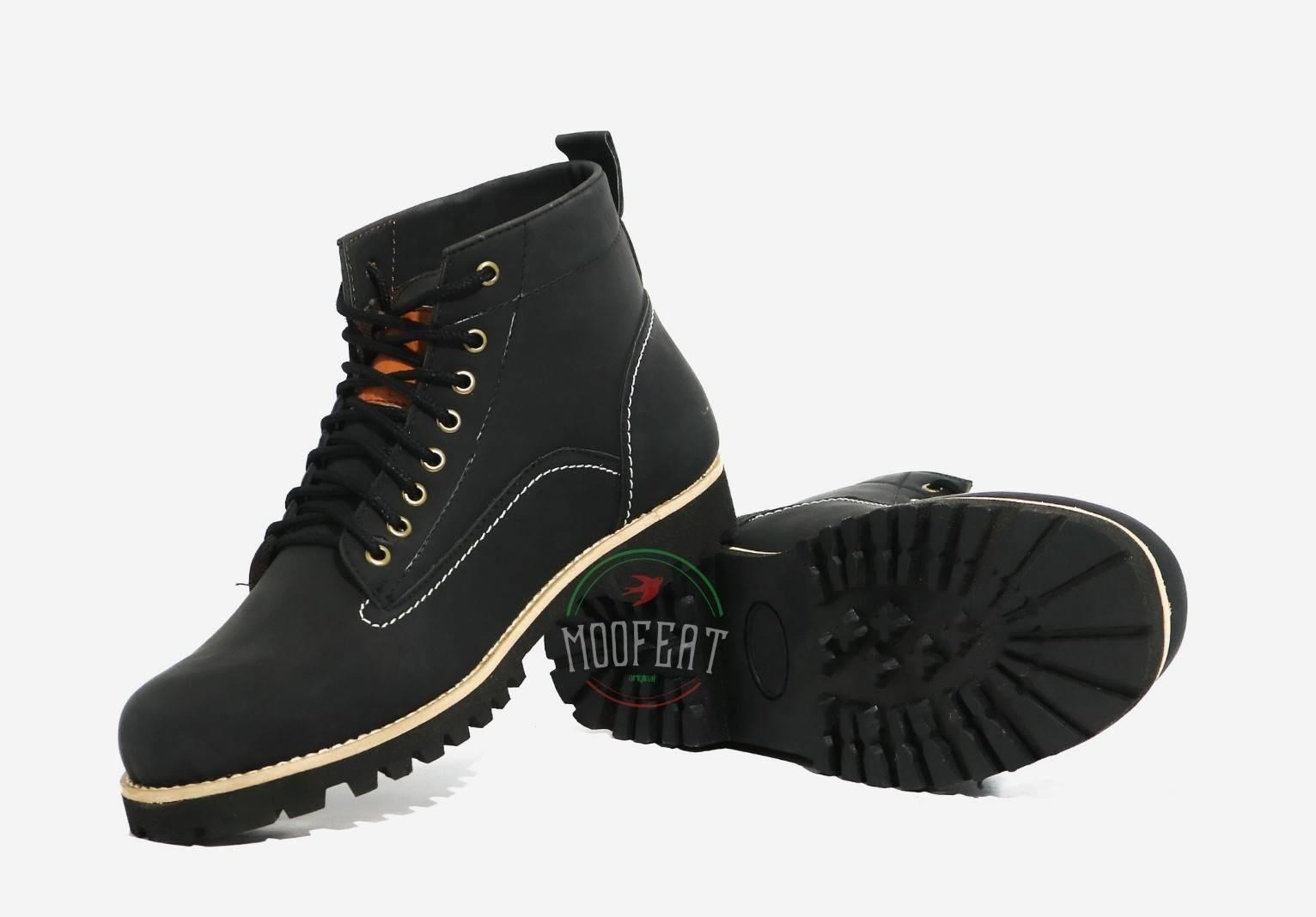 Sepatu Boots Pria Moofeat Edward Ring Hitam Original Clothing Kerja Pria  Work   Style High Quality fcafb58eb5