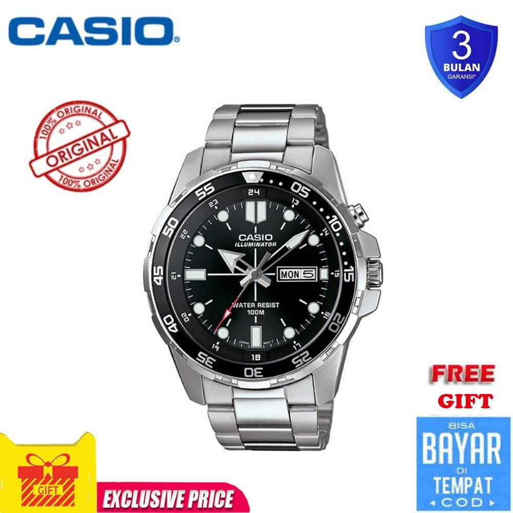 Casio watch Men's Sports Watch Waterproof 100M Fashion Stainless Steel quartz watch MTD1079D-1AV