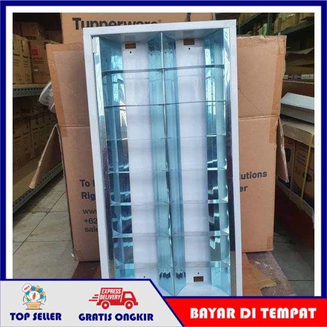 KAP HOUSING ARMATUR RM 2X18 WATT 2 X 18W 18WATT 18 W SET LED PHILIPS