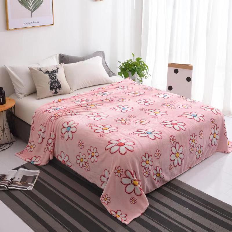 selimut bulu dewasa motif bunga termurah impor