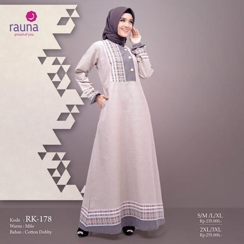Gamis Rauna Rk 178 179 Fashion Muslim Lazada Indonesia