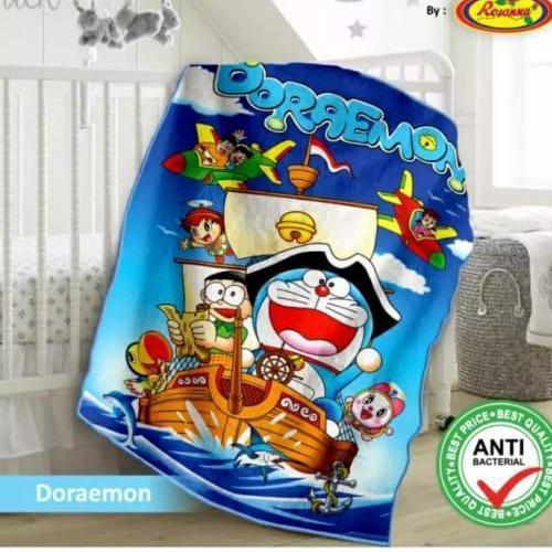selimut bayi,anak-anak bulu halus 100x140 motif Doraemon