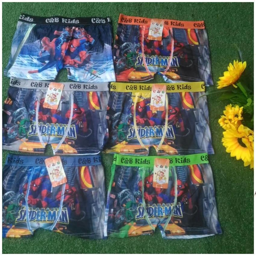 3 Pcs Celana Dalam Boxer Anak Cowok Kartun By Foryou Style.