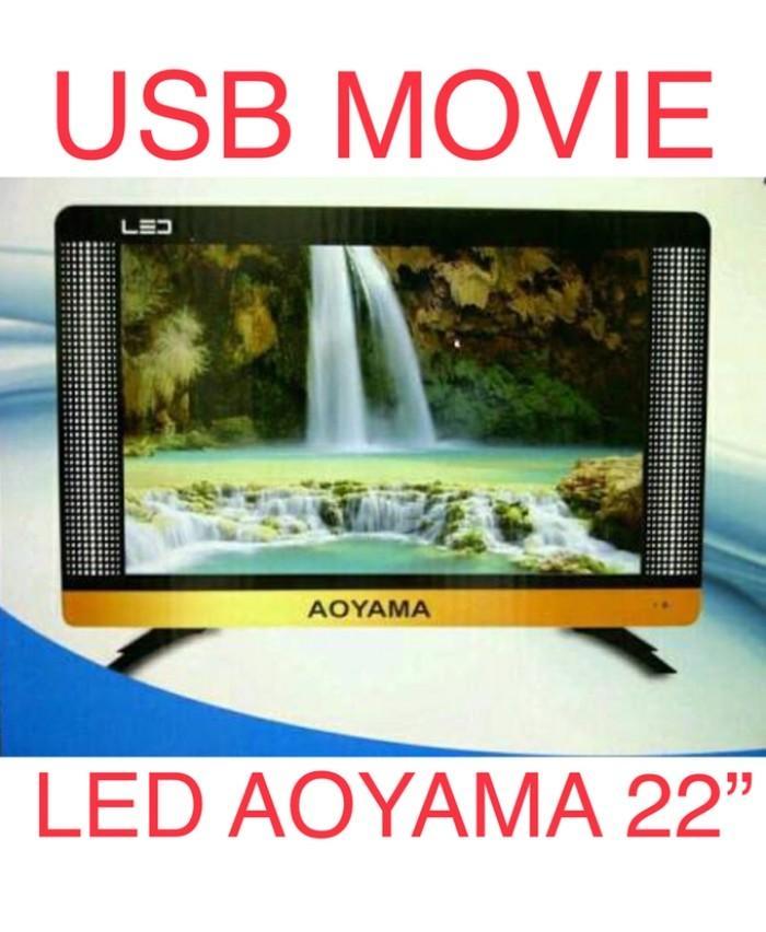 AOYAMA LED TV 22 inch USB MOVIES VGA HDMI