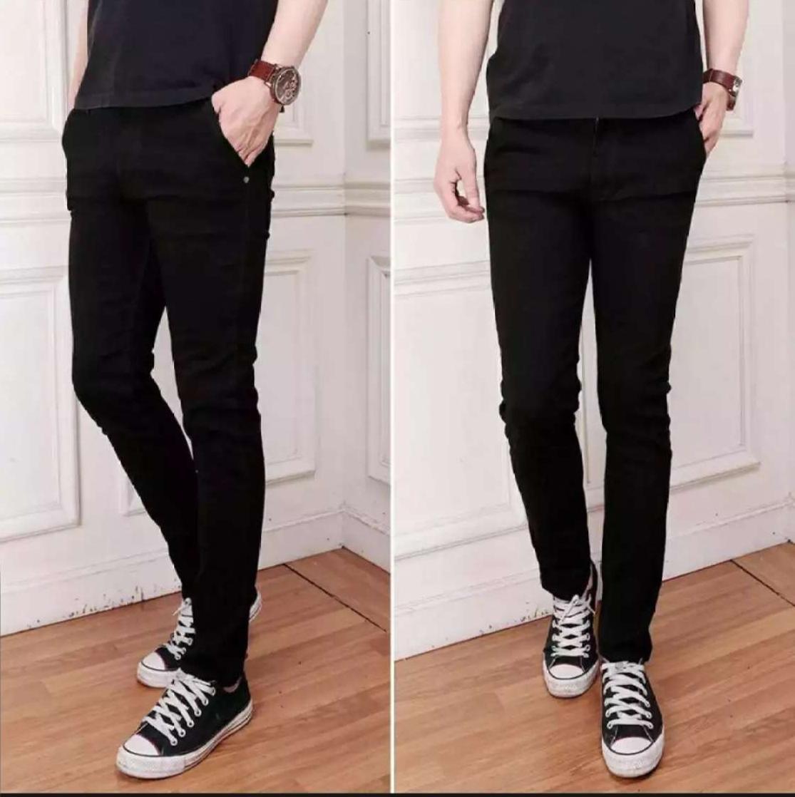 Celana jeans pria slim/pensil/street