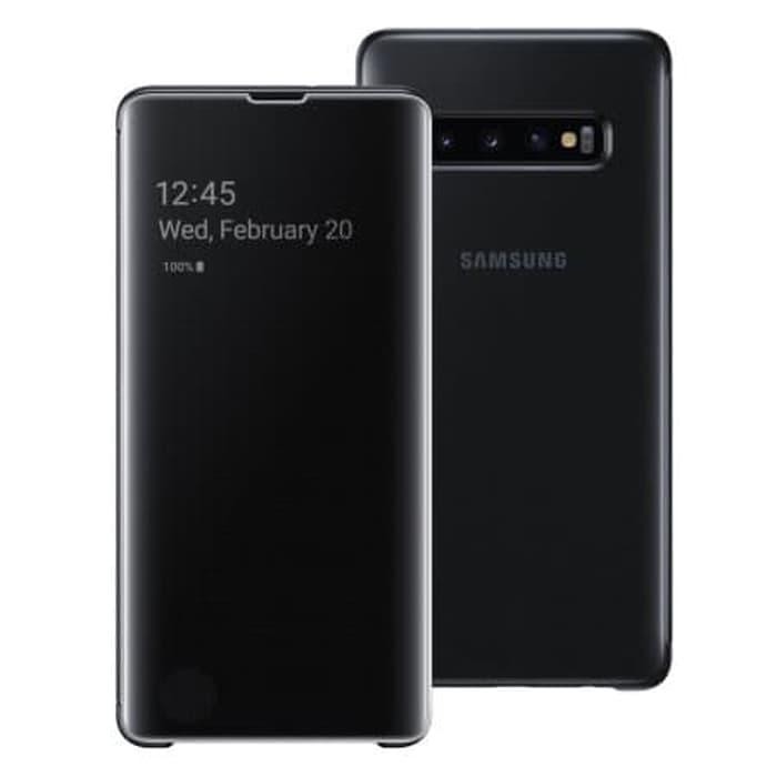 Samsung Galaxy S10  S10 Plus Clear View Cover Case  Hitam