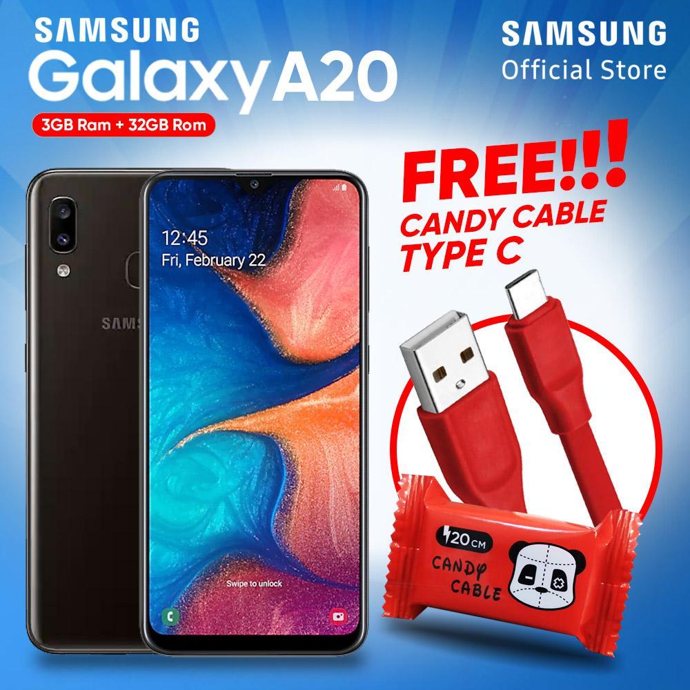 Samsung Galaxy A20 [3GB/32GB] Free Usb Cable Type C - Garansi Resmi