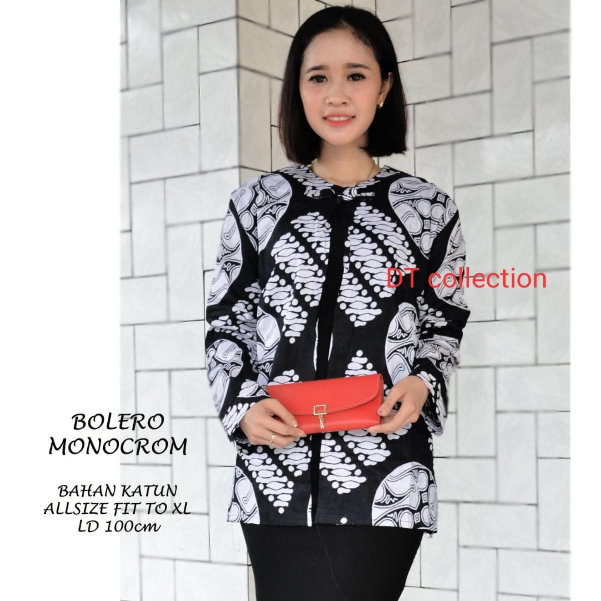 DT COLLECTION BOLERO ATASAN WANITA BATIK PEKALONGAN MOTIF MONOCHOROME