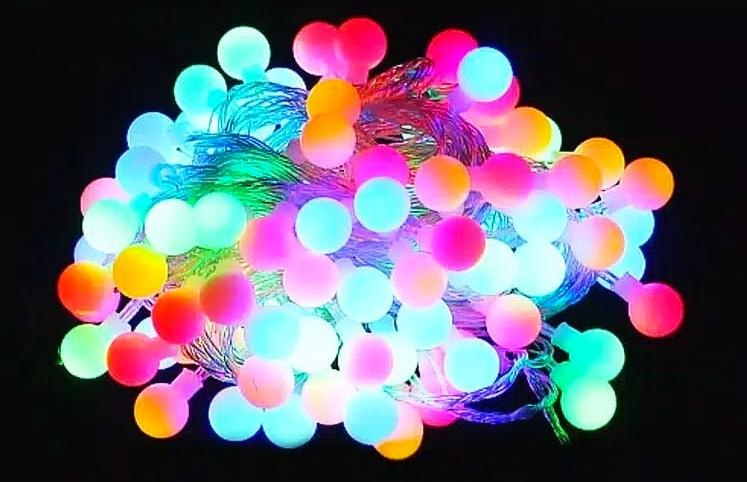 TERBARU PANJANG 10 METER - Lampu Hias Led Lampu Dekorasi Lampu Bola Anggur Kelap Kelip 10 Meter- Lampu Hias Warna warni - Led Bola Anggur Warna-Warni