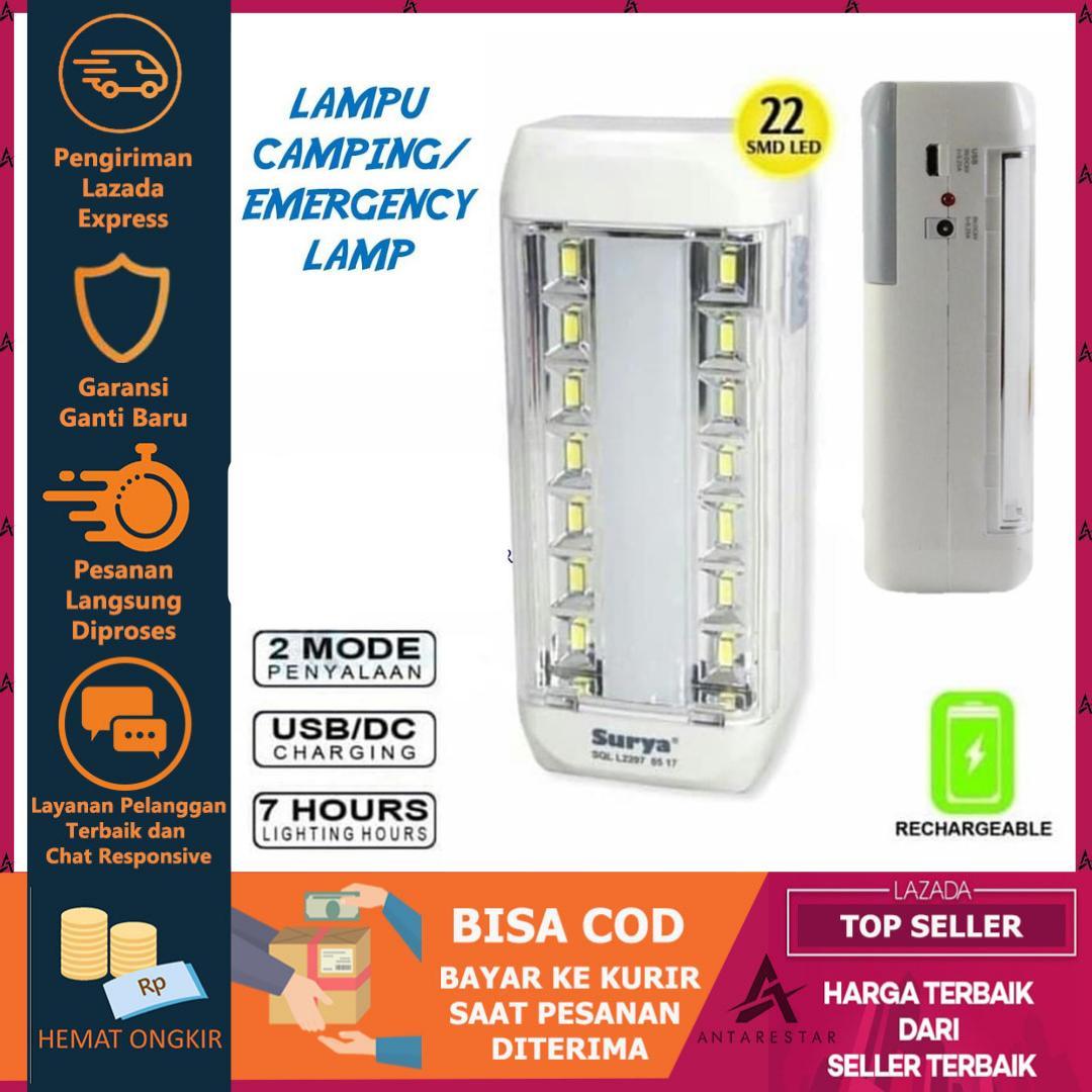 Lampu Camping Emergency Lamp Super Terang Rechargeable Tahan Lama By Antarestar