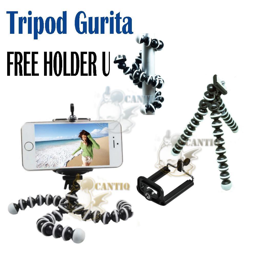 Tripod Gurita Universal Holder Tripod Mini GORILLA + FREE HOLDER U Tripod Fleksibel Model Gurita untuk