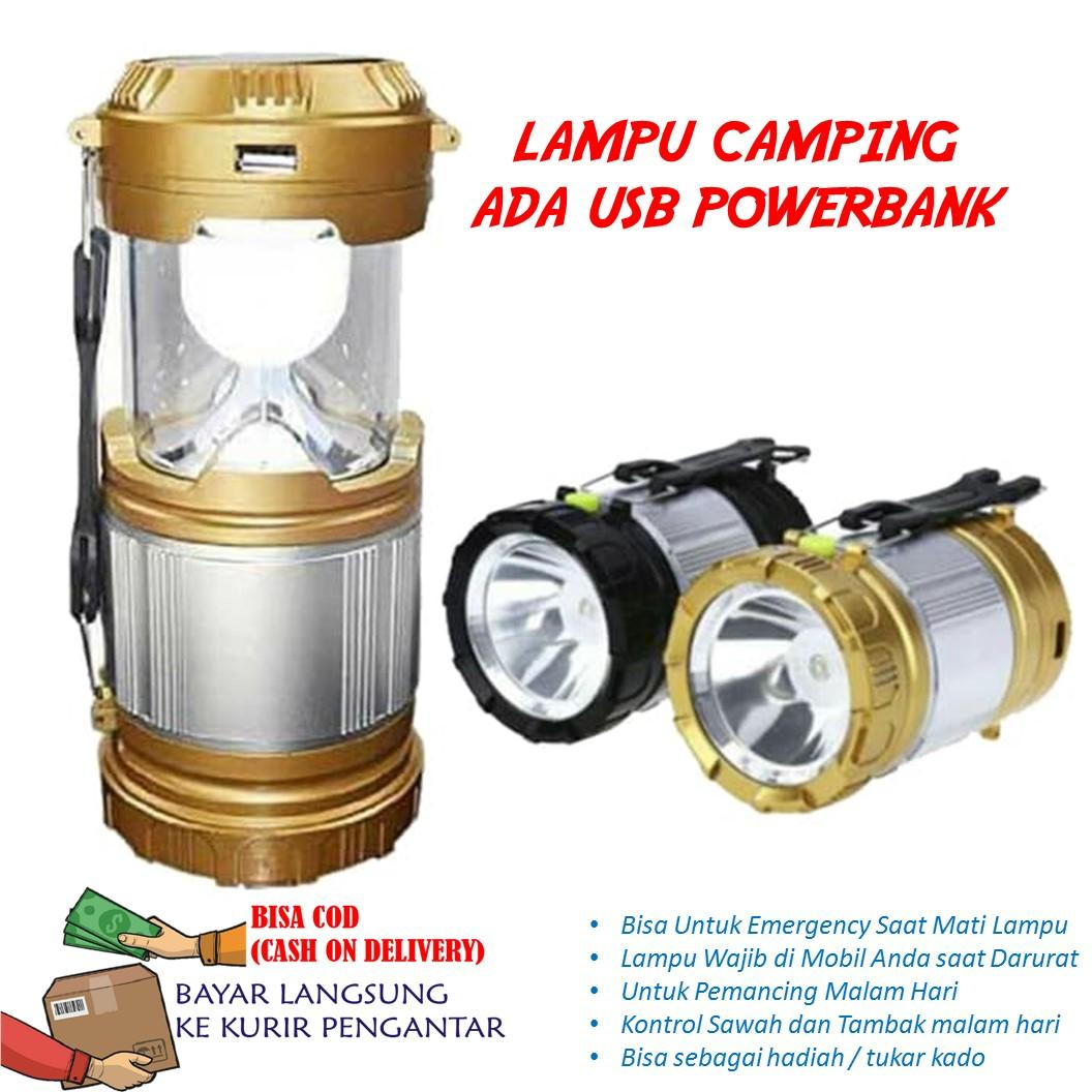 Lampu Camping Emergency Lamp Solar Panel Rechargeable Batterry By Antarestar.