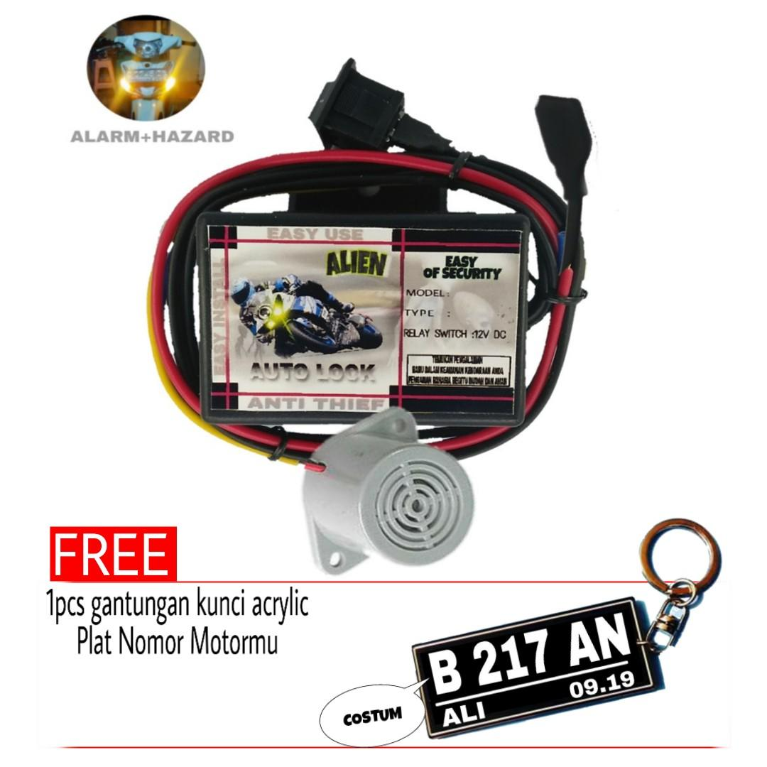 Pengaman Alarm Motor Anti Maling Canggih Touch Screen Àctivation Plus Jebakan By Store Alien Auto.