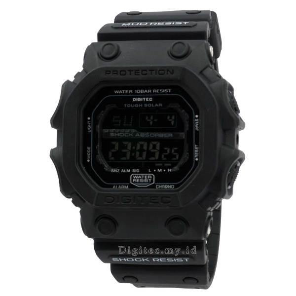 Jam Tangan Pria Sport Army Digitec 2054 Original Anti Air Black Grey Karet FH