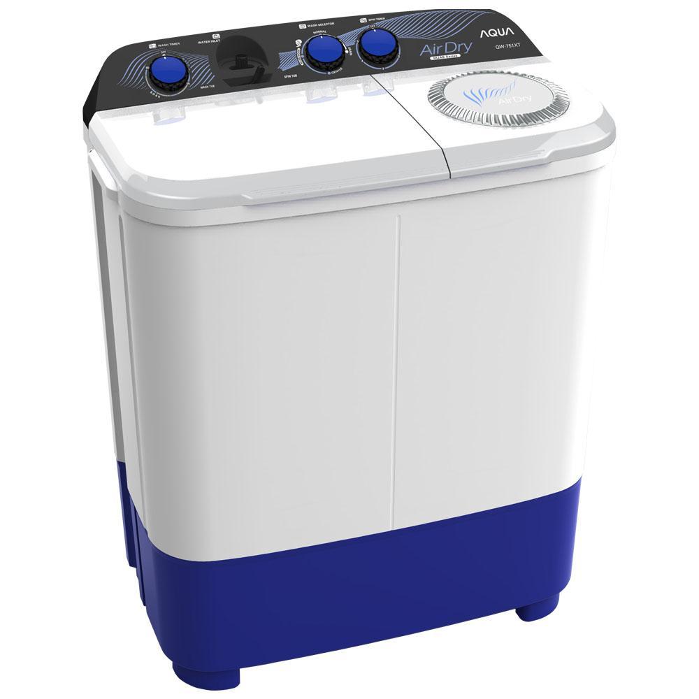 Aqua (Sanyo) Mesin Cuci Twin Tub 8kg QW851XT - Khusus JABODETABEK