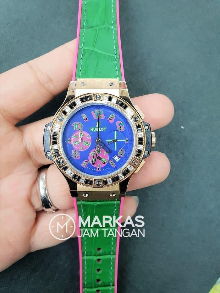 Jam Tangan Wanita HUBLOT Big Bang Pop Art Chronograph Leathers Watch
