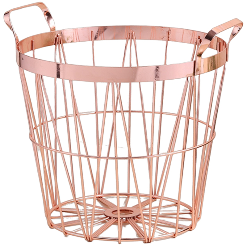 Mã Giảm Giá Khi Mua Metal Iron Nordic Style Dirty Clothes Storage Basket Organizer For Home Bedroom Living Room Laundry Room