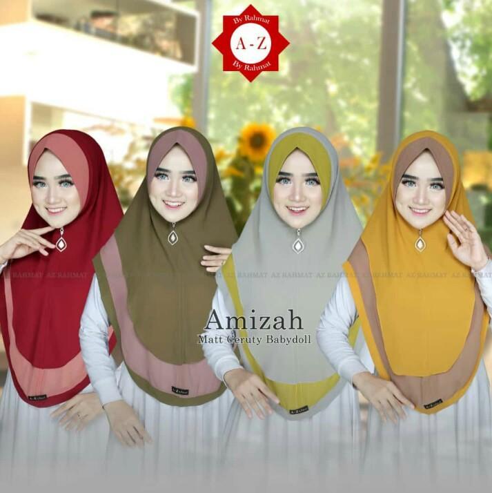 Kerudung / Hijab/Jilbab Instan Model Bergo terbaru termurah dan Terlaris /Hijab Muslim  layer oval kombinasi/ Kerudung Wanita / giok_olshop