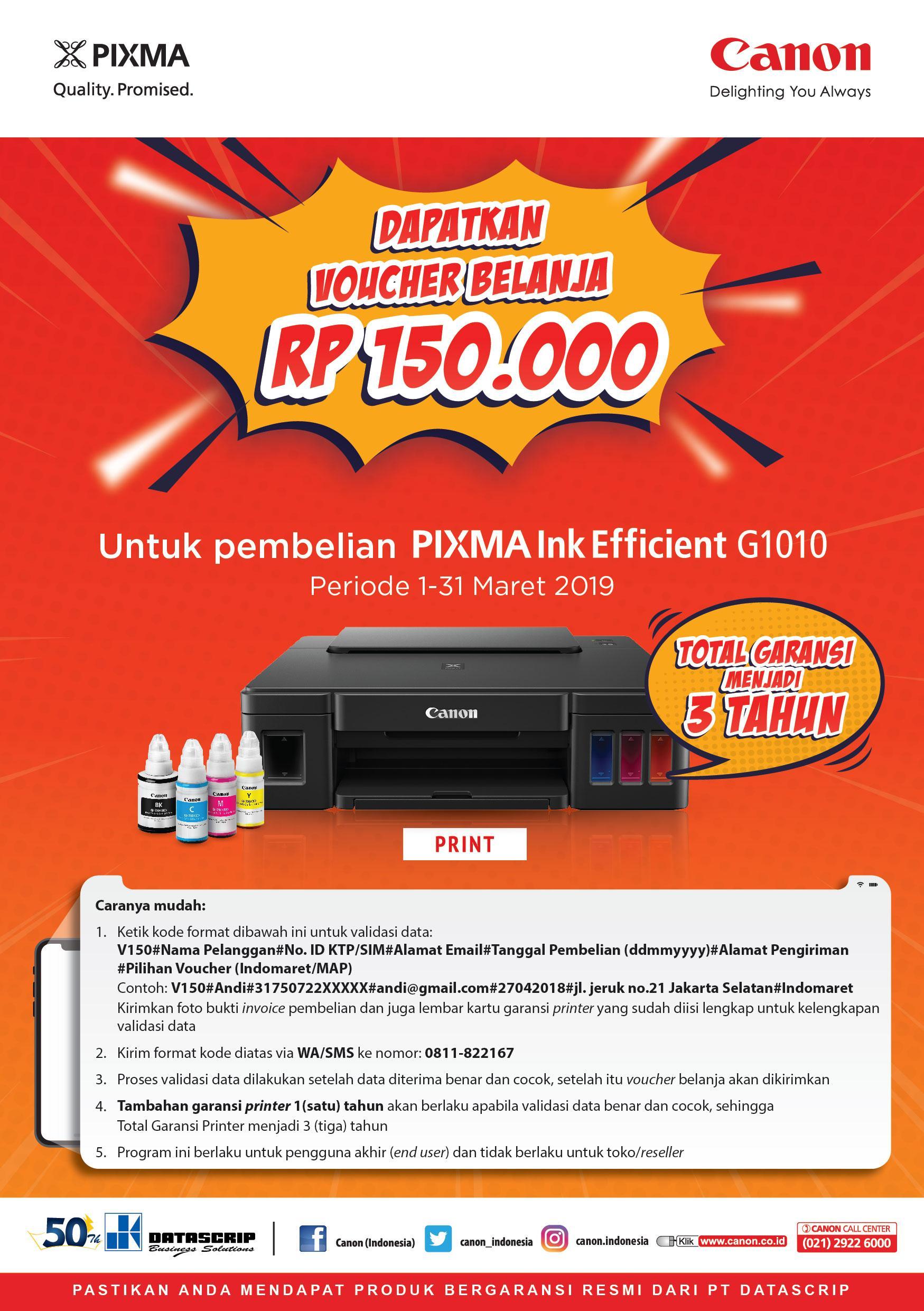 Canon PIXMA G1010 (Print) - Black